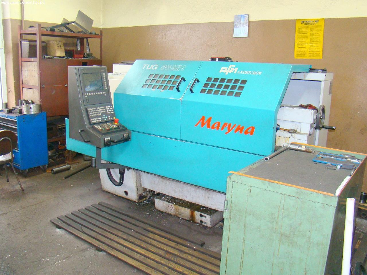 Tokarka CNC MARYNA TUG 56 MN, 2006 rok produkcji